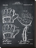 Baseball Glove, 1909-Chalk Boa Stretched Canvas Print by Bill Cannon
