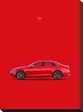 Audi S4 2015 Stretched Canvas Print by Mark Rogan