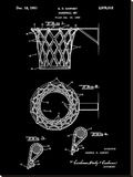 Basketball net, 1950-Black Stretched Canvas Print by Bill Cannon