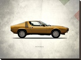 Alfa-Romeo Montreal 1972 Stretched Canvas Print by Mark Rogan