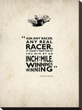 Ask Any Racer Stretched Canvas Print by Mark Rogan