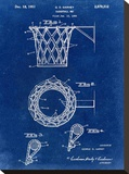 Basketball net, 1950-Blue I Stretched Canvas Print by Bill Cannon