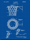 Basketball net, 1950-Blue II Stretched Canvas Print by Bill Cannon
