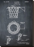 Basketball net, 1950-Chalkboar Stretched Canvas Print by Bill Cannon