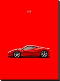 Ferrari 458 Italia Red Stretched Canvas Print by Mark Rogan