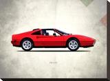 Ferrari 328GTS 1987 Stretched Canvas Print by Mark Rogan