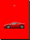 Ferrari 458 Italia Red Stretched Canvas Print by Mark Rogan