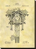 Cuckoo Clock, 1912 Stretched Canvas Print by Dan Sproul