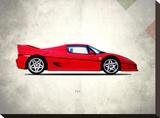 Ferrari F50 Stretched Canvas Print by Mark Rogan