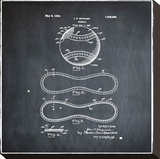 Baseball, 1927-Chalkboard Stretched Canvas Print by Bill Cannon