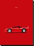 Ferrari F40 Stretched Canvas Print by Mark Rogan