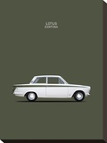 Ford Lotus Cortina Mk1 1966 Stretched Canvas Print by Mark Rogan