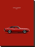 Dodge Challenger R-T 1970 Stretched Canvas Print by Mark Rogan