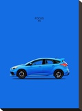 Ford Focus RS Stretched Canvas Print by Mark Rogan