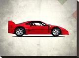 Ferrari F40 Berlinette 1992 Stretched Canvas Print by Mark Rogan