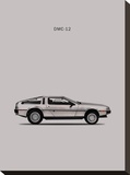 DeLorean DMC-12 1981 Stretched Canvas Print by Mark Rogan