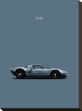 Ford GT40 Stretched Canvas Print by Mark Rogan