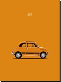 Fiat 500 Abarth 1969 Stretched Canvas Print by Mark Rogan