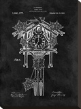 Cuckoo Clock, 1912-Black Stretched Canvas Print by Dan Sproul