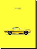 Mustang Shelby GT350 69 Yellow Stretched Canvas Print by Mark Rogan