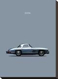 Mercedes 300SL 1960 Stretched Canvas Print by Mark Rogan