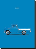 Chevrolet Cameo Pickup 1957 Bl Stretched Canvas Print by Mark Rogan