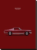 Mustang Fastback 65 Stretched Canvas Print by Mark Rogan