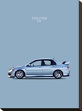 Mitsubishi Lancer Evo. VIII Stretched Canvas Print by Mark Rogan