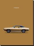 Pontiac Firebird 1969 Stretched Canvas Print by Mark Rogan