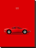 Ferrari Dino 246GT 69 Red Stretched Canvas Print by Mark Rogan