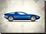 Maserati Bora 1973 Stretched Canvas Print by Mark Rogan