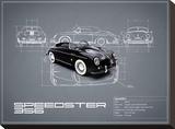 Porsche Speedster 1959 White Stretched Canvas Print by Mark Rogan