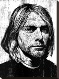 Cobain Stretched Canvas Print by Neil Shigley