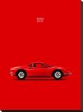Mark Rogan - Ferrari Dino 246GT 69 Red - Şasili Gerilmiş Tuvale Reprodüksiyon