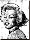 Marilyn Stretched Canvas Print by Neil Shigley