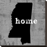 Mississippi  Stretched Canvas Print by Luke Wilson