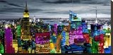 NYC In Living Color I Stretched Canvas Print by Carly Ames
