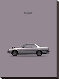 Nissan Skyline 2000GT Stretched Canvas Print by Mark Rogan