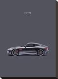 Jaguar F-Type Grey Reproduction sur toile tendue par Mark Rogan