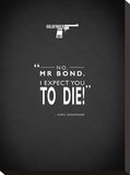 JB Goldfinger Expect To Die Stretched Canvas Print by Mark Rogan
