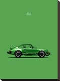 Porsche 911 Carrera Green Stretched Canvas Print by Mark Rogan