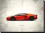 Lamborghini Aventador Stretched Canvas Print by Mark Rogan