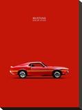 Ford Mustang Shelby GT350 1969 Reproducción en lienzo de la lámina por Mark Rogan
