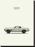 Ford Mustang Boss302 1969 Stretched Canvas Print by Mark Rogan