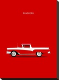 Ford Ranchero 57 Stretched Canvas Print by Mark Rogan