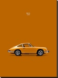 Porsche 911 1968 Orange Stretched Canvas Print by Mark Rogan