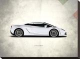 Lamborghini Gallardo Stretched Canvas Print by Mark Rogan
