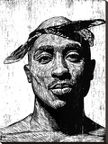 Tupac Stretched Canvas Print by Neil Shigley