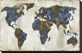The World I Stretched Canvas Print by Russell Brennan