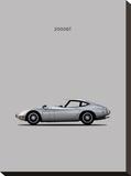 Toyotta 2000GT Grey Stretched Canvas Print by Mark Rogan